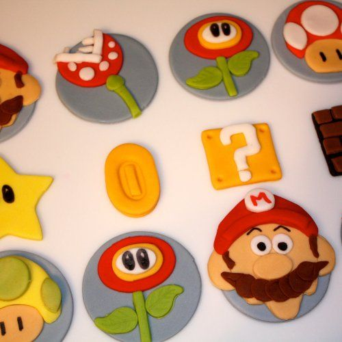 VIDEO GAME Character Inspired Fondant Toppers for Cupcakes and Cakes | bumblecakes - Edibles on ArtFire
