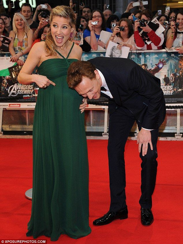 Tom Hiddleston with Chris Hemsworth's wife, Elsa Pataky