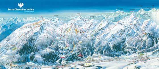 plan-des-pistes-serre-chevalier #serrechevalier http://www.serre-chevalier.com/hiver/ski-alpes/plan-des-pistes/