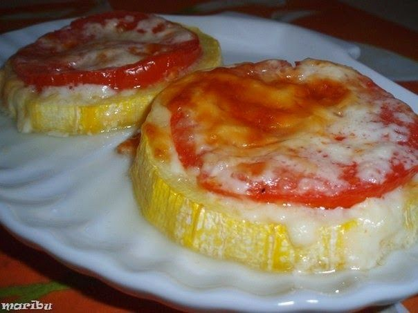 Кабачки, запеченные с помидорами и сыром или овощные горячие бутерброды | Про рецептики - лучшие кулинарные рецепты для Вас!
