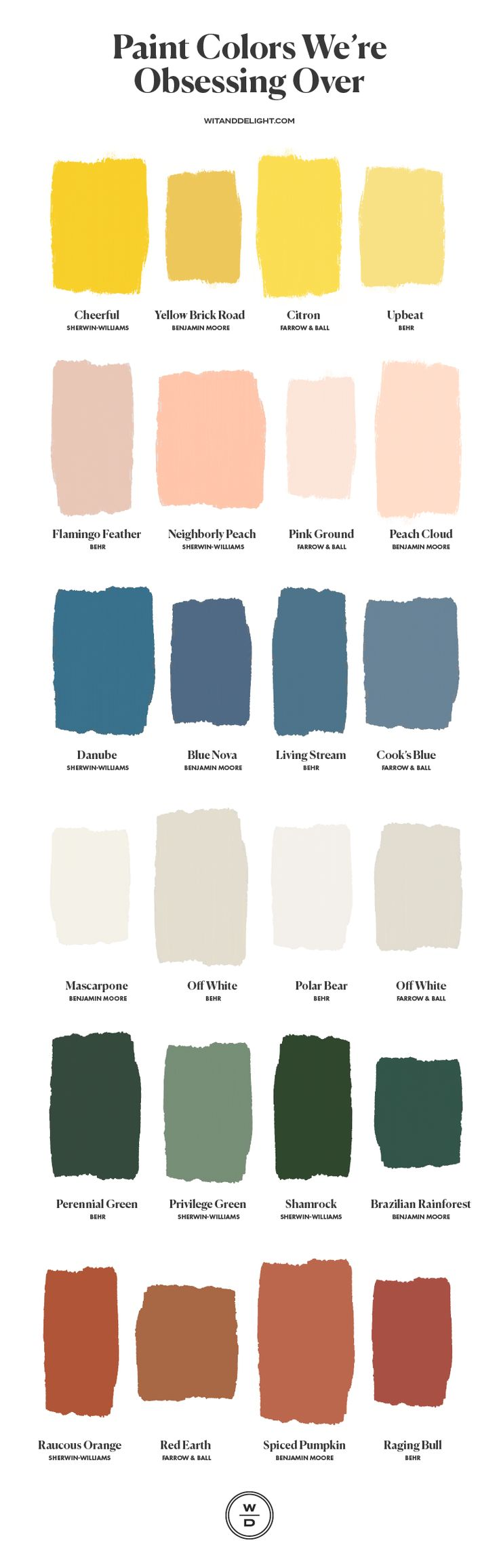 These are the 6 Paint Colors We're Obsessing Over – Wit & Delight interior paint