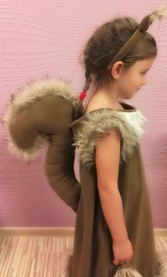 Squirrel girl costume dress headband tail/ Kids by Divendi on Etsy