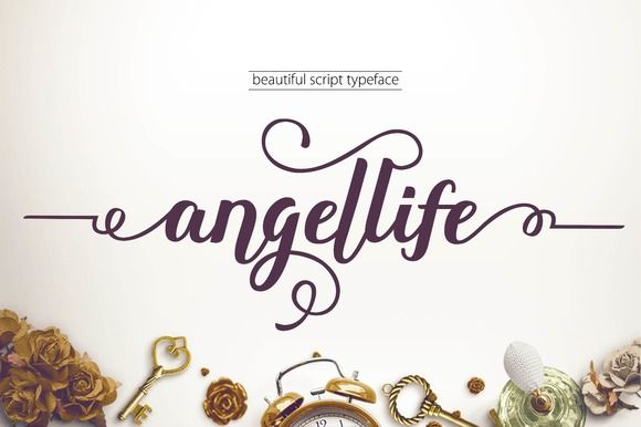 Angellife Beauty Script by Rabbittype on @creativemarket