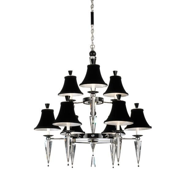14 best black chandeliers images on pinterest black chandelier black chandelier schonbek lighting diva chandelier features 3 4 or 5 velvet shades arranged mozeypictures Images