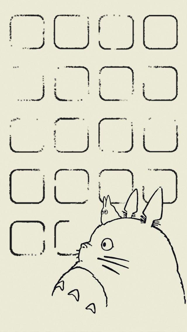 Totoro iPhone 5 background \u2026   Pinteres\u2026