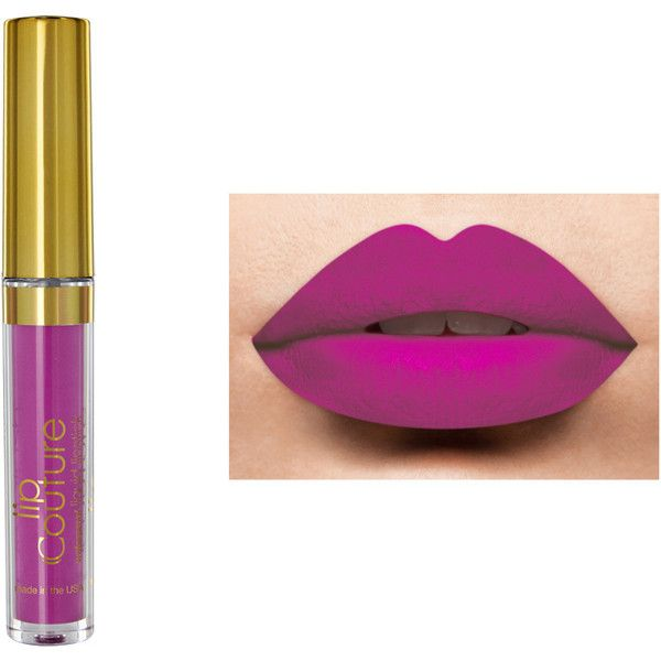 LA-Splash Cosmetics Lip Couture Lipstick (Waterproof) ($14) ❤ liked on Polyvore featuring beauty products, makeup, lip makeup, lipstick, waterproof lipstick, lips lipstick, matte finish lipstick, lips makeup and matte lipstick