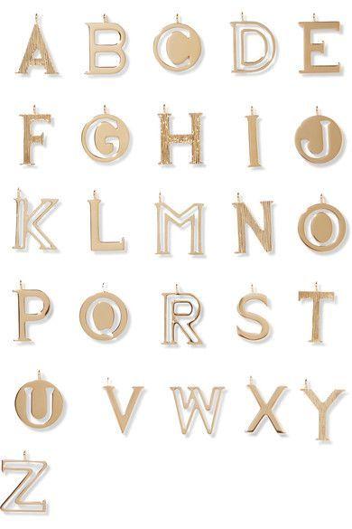 Chloé - Alphabet Gold-plated Wallet Charm - B