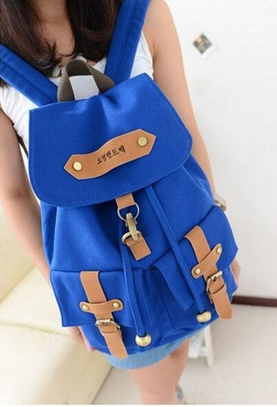 19.60$  Buy here - http://ali5yy.shopchina.info/go.php?t=32791625081 - Hot !2017 fashion Casual Cute Lady Girls backpack Elegant Canvas women school bags solid color Vintage women backpack mochila  #SHOPPING