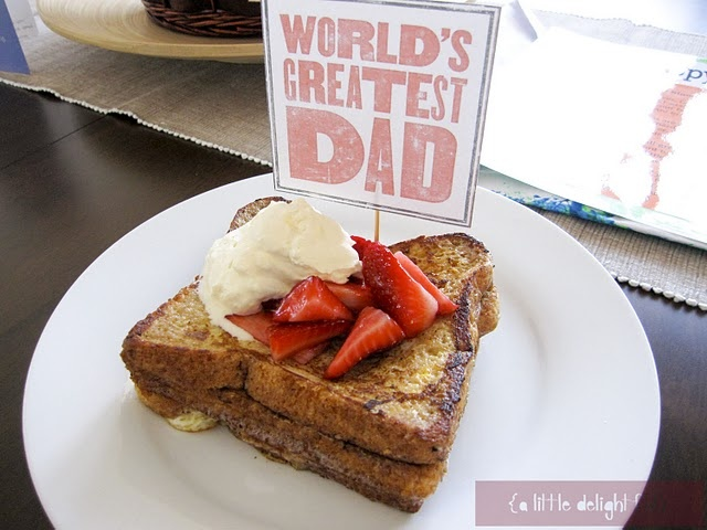 father's day breakfast: Breakfast In Beds, Gifts Ideas, Father Day Ideas From Kids, French Toast, Gifts Wraps, Father'S Day, Fathers Day, Father Day Gifts Breakfast, Father Day Breakfast Ideas