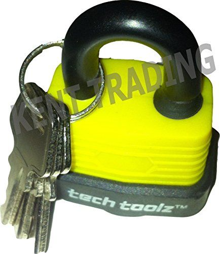New 50MM Water Proof Padlock - Solid Steel Heavy Duty - 3 Keys With Each Lock - Protective Cap On Keyhole - Home Security / Garden / Garages / Sheds / Anywhere Outdoors / Indoors - Weather Proof Padlocks - Yellow / Black - New Verdi http://www.amazon.co.uk/dp/B00WX2TW2U/ref=cm_sw_r_pi_dp_E4.kwb0WT39RF
