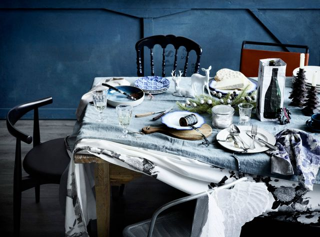 n: Table Settings, Inspiration, Blue Wall, Christmas Tables, Christmas Tabletop, Glen Proebstel