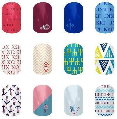 Big news for any Sorority Sisters...mothers of sorority girls...or friends of some sorority girls: What would make an amazing Christmas gift? How about some Jamberry Sorority Nail Shields?? The following sororities will be available on October 30th with more being added in the future: Alpha Pi, Kappa Kappa Gamma, Chi Omega, Delta Delta Delta, Delta Gamma, Pi Beta Phi. wrappingitup.jamberry.net