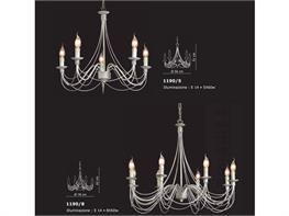 Lampadari in ferro battuto collezione Lux1190