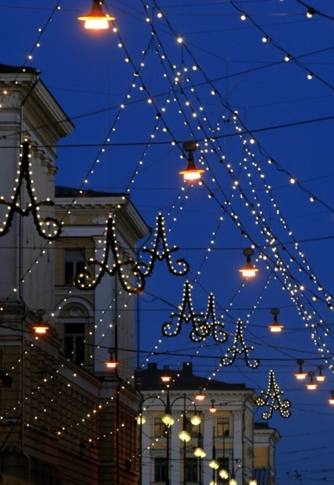 Aleksin jouluvalot -christmas light at Aleksanterinkatu
