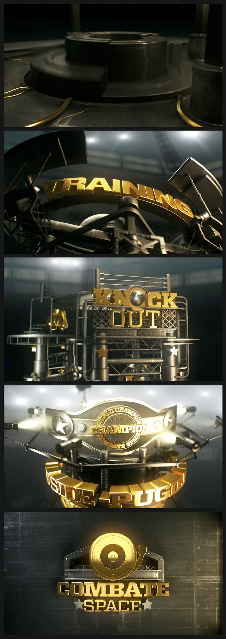 3d sports graphics and motion design style frames. OPEN COMBATE SPACE/ CANAL SPACE on Behance