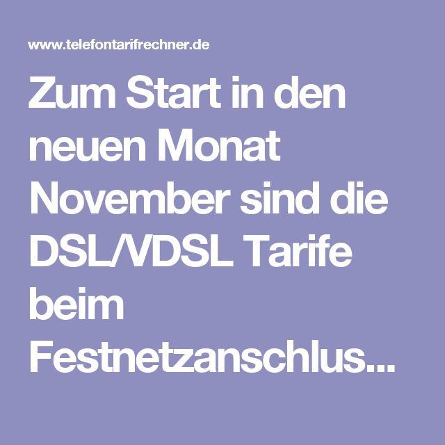 Zum Start in den neuen Monat November sind die DSL/VDSL Tarife beim Festnetzanschluss mit einem DSL- oder Kabelanschluss auch wieder sehr günstig für unsere Leser zu haben. Deshalb bieten wir eine passende Festnetzanschluss-Übersicht mit den billigsten DSL- und Kabel-Tarifen in Deutschland. Dabei haben wir uns dann die 10 Euro Marke beim DSL- und Kabelanschluss Tarifvergleich gesetzt.