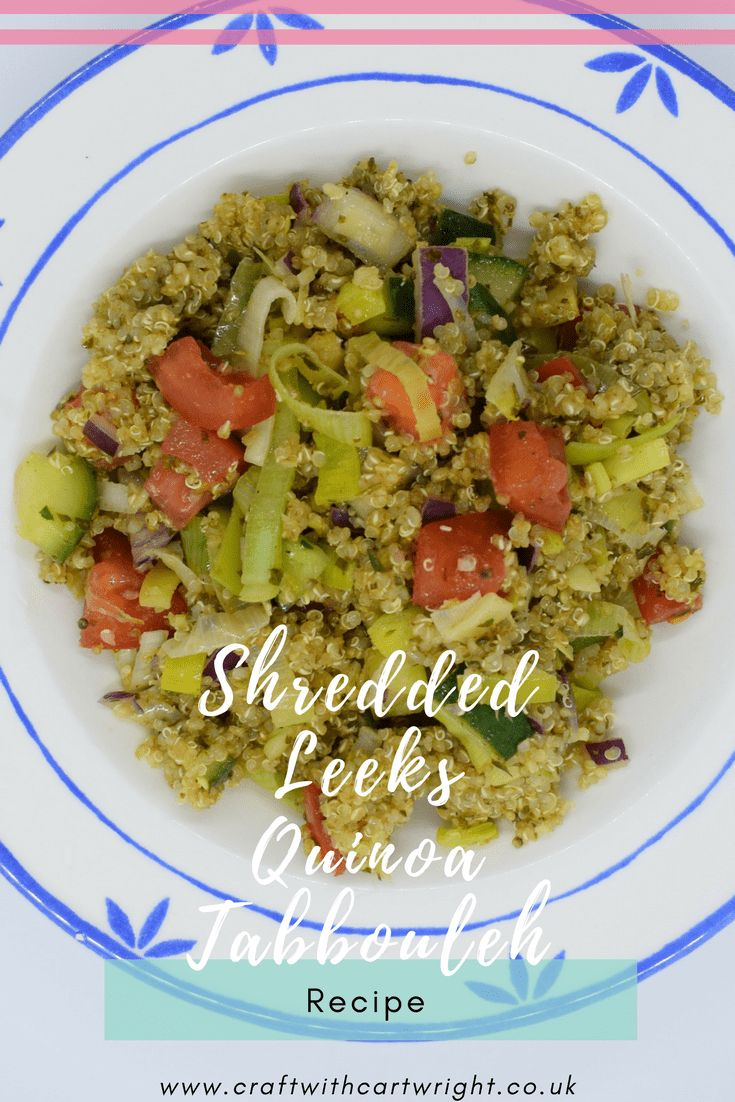 With it being St. David's day tomorrow, I was asked if I wouldn't mind cooking up a recipe from British Leeks. So I chose to make a Quinoa Tabbouleh with Shredded Leeks and Preserved Lemon