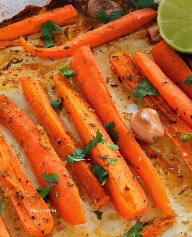 Ψητά καρότα με μέλι http://pepiskitchen.blogspot.gr/2014/03/psita-karota-me-meli.html