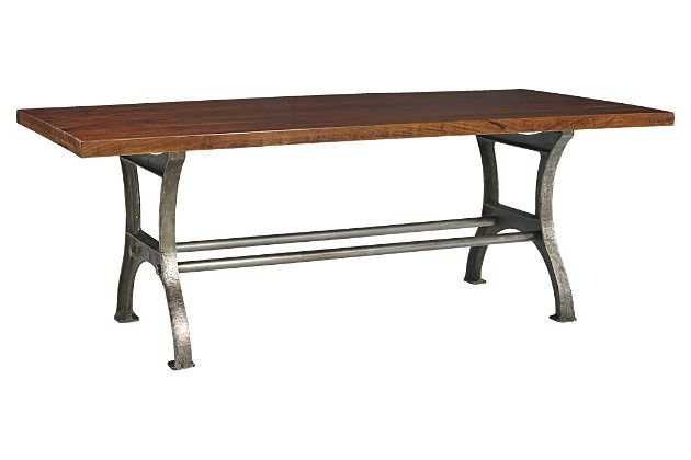 Rustic Brown Ranimar Dining Room Table View 2