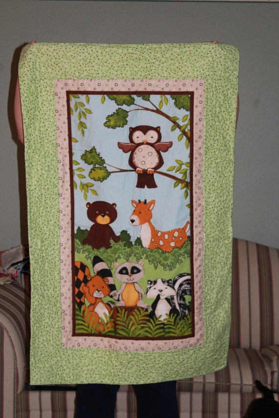 Animal Quilts Woodland Animals And Quilt On Pinterest