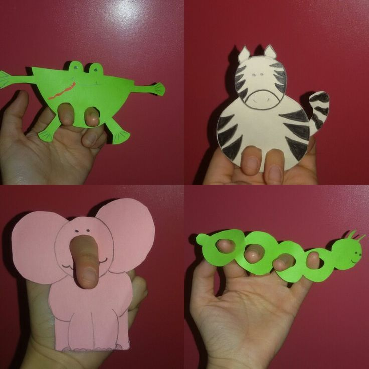 #Animals #finger #puppets #paper #teach #learn #havefun