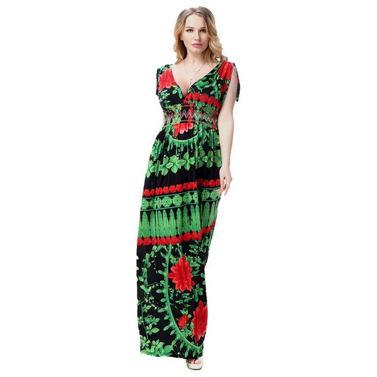 2016 summer V neck sleeveless ice silk lace dress women holiday dresses large plus size 6XL lady flower maxi dress loose waist