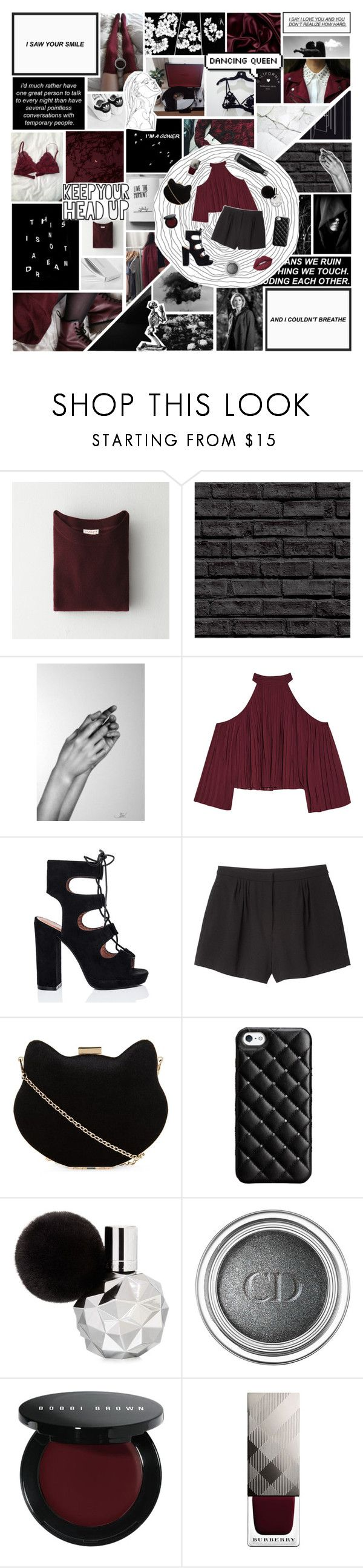 """// shot a man down"" by i-get-a-little-bit-breathless ❤ liked on Polyvore featuring Demylee, Chanel, W118 by Walter Baker, SpyLoveBuy, Monki, New Look, Case-Mate, Christian Dior, Bobbi Brown Cosmetics and Burberry"
