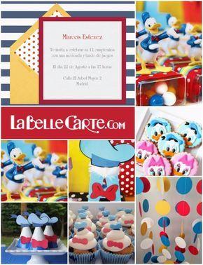 Invitaciones Infantiles, Invitaciones para fiestas infantiles, cumpleaños pato…