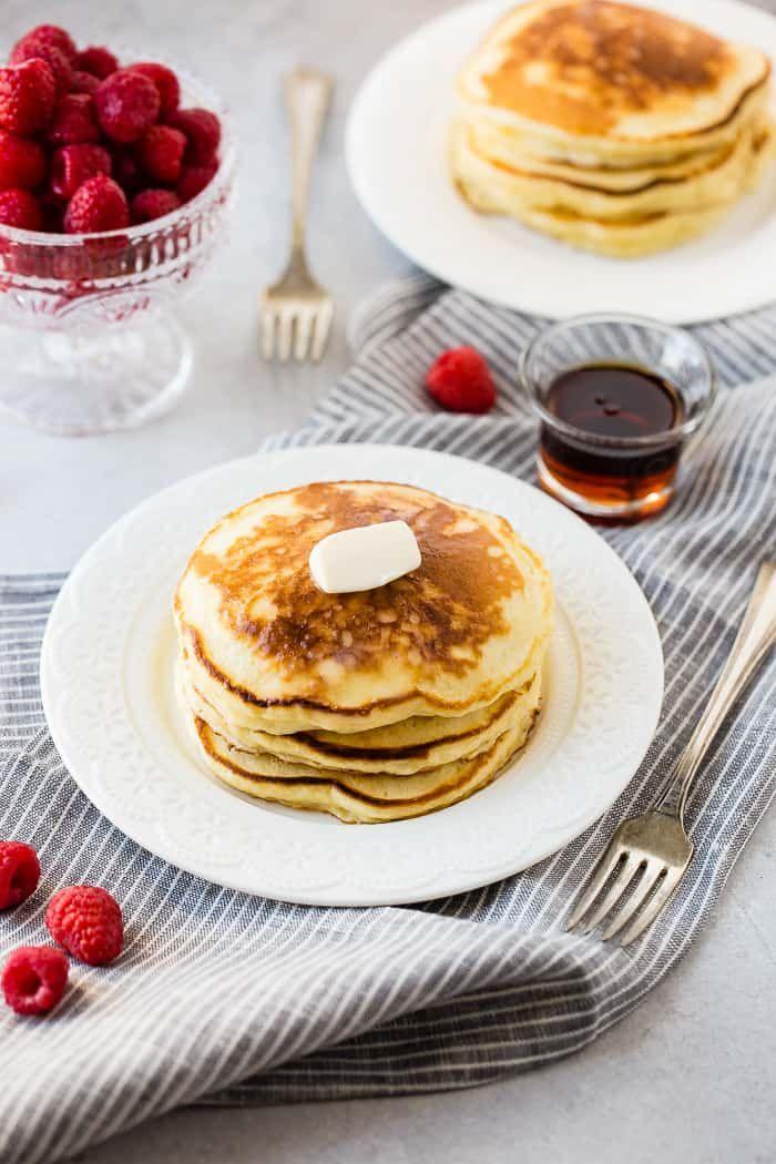 Banana Sour Cream Pancakes Recipe Sour Cream Pancakes Homemade Sour Cream How To Make Breakfast