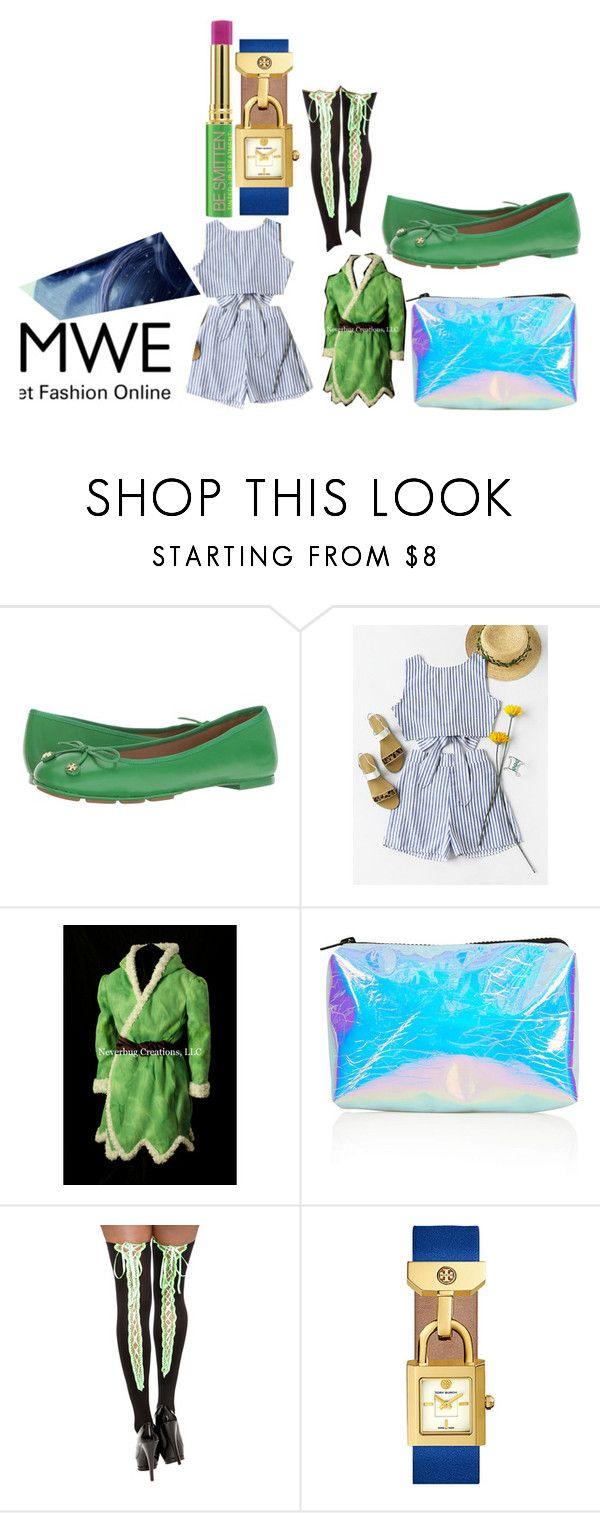 """""""The look"""" by sweetimperfection ❤ liked on Polyvore featuring Tory Burch, Topshop, Tata Harper, Disney and romwe"""