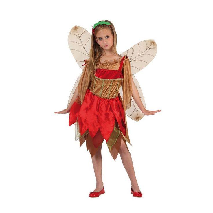Déguisement de fée de l'automne pour fille avec robe, ailes et bandeau