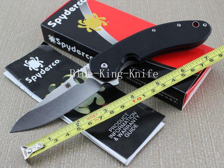"""Nové vysoce kvalitní Spyderco Nůž Spyderco Military C156 GPBN Brad Southard 3,46 """"CTS-204P Carpenter ocelový meč zavírací nůž (Čína (pevninská část))"""