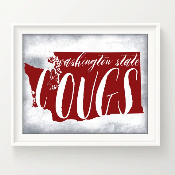 Washington State University COUGS  / 8 x 10 by EdmondsonbyDesign