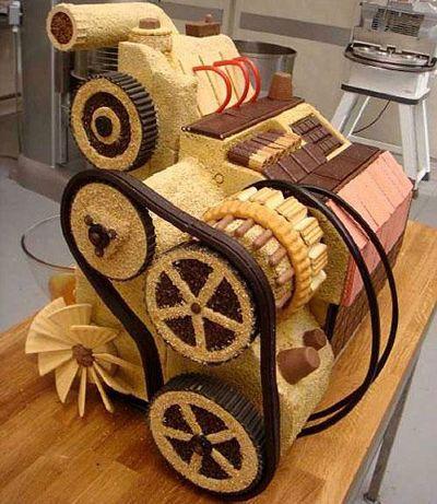 実物大!?本物の車そっくりの超巨大ケーキ - GIGAZINE
