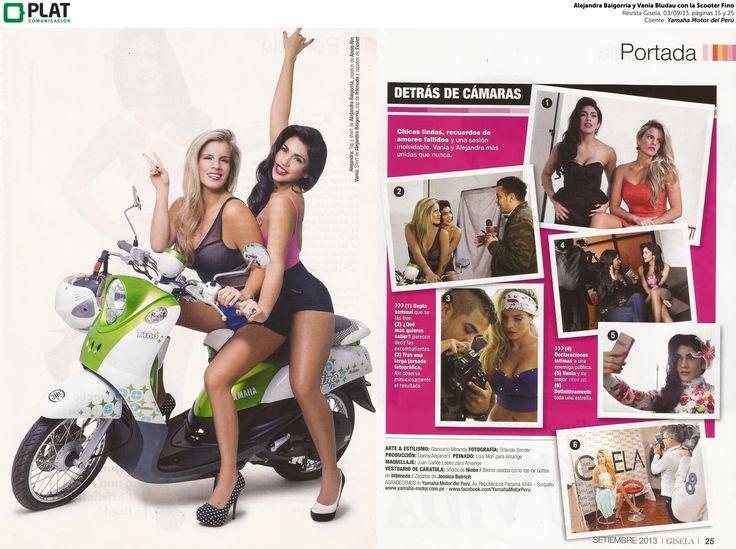 peruvian scooter advertising   Yamaha: Scooter Fino en sesión de fotos de Gisela