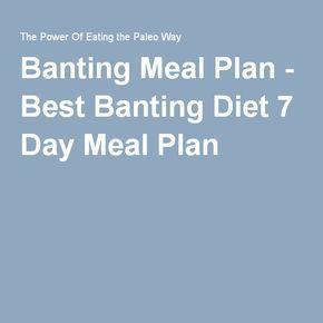 Banting Meal Plan - Best Banting Diet 7 Day Meal Plan