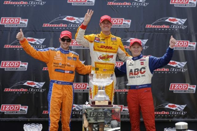 Charlie Kimball, Ryan Hunter-Reay, Mike Conway by IZOD IndyCar Series, via Flickr