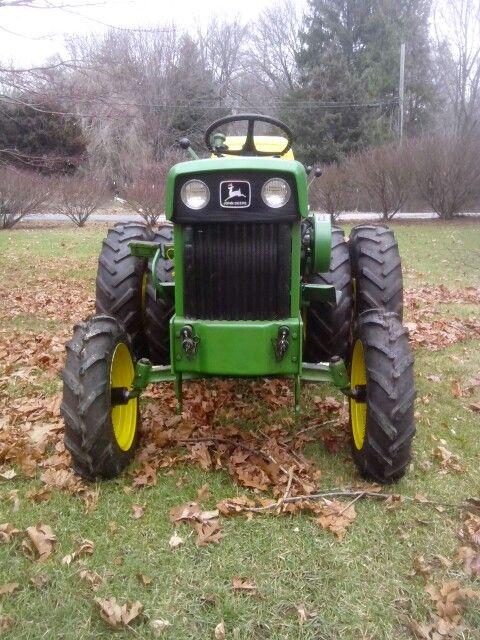 Front view of my dual rear wheel 1969 John Deere 140 garden tractor...