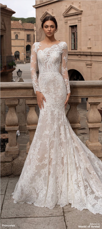 Pronovias 2020 Wedding Dresses World Of Bridal Wedding Dress Long Sleeve Pronovias Wedding Dress Wedding Dresses [ 1500 x 670 Pixel ]