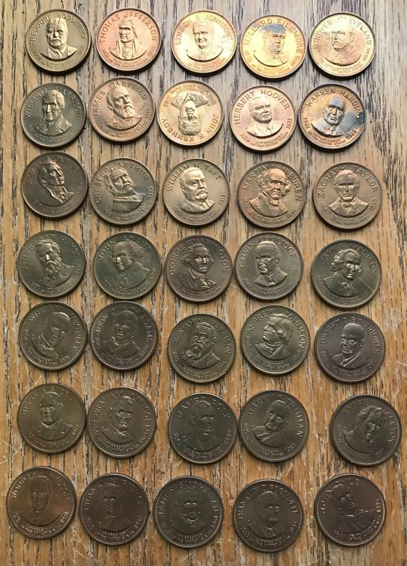 35 Solid Bronze Franklin Mint Coins of the by LeftoverStuff