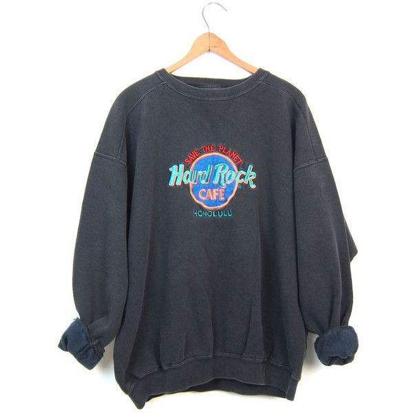 Vintage Hard Rock Cafe Sweatshirt HONOLULU 80s Sweatshirt Washed Out... (100 BRL) ❤ liked on Polyvore featuring men's fashion, men's clothing, tops, mens clothing, 80s men's fashion, 1980s mens clothing, hipster mens clothing and men's apparel