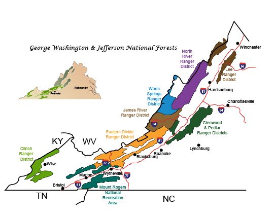 George Washington & Jefferson National Forests Trails