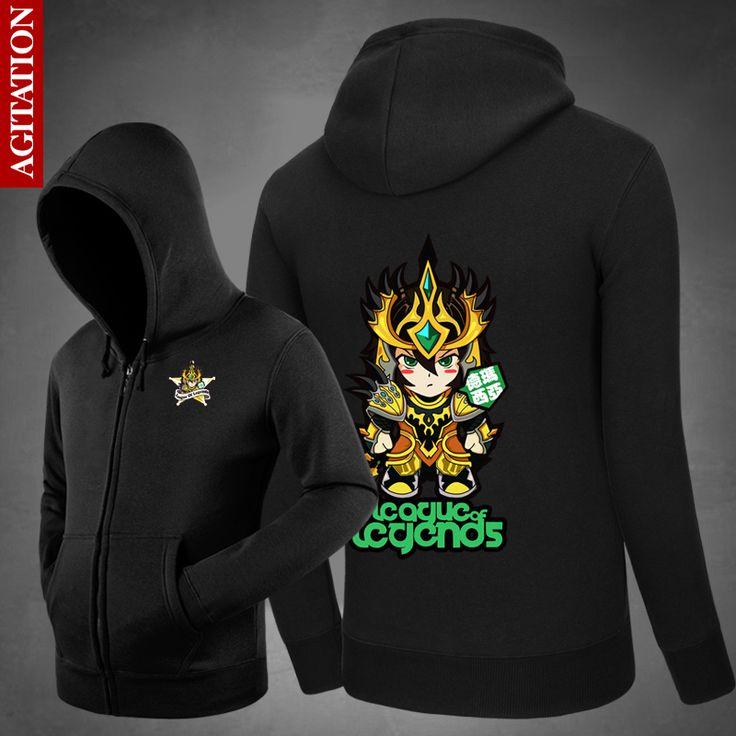 2017 New Men Sweatshirts LOL Jarvan IV Hoodies Svitshot Casual Loose Hoodies 3d Print Winter Fleece Jackets Sweats Menswear #Affiliate