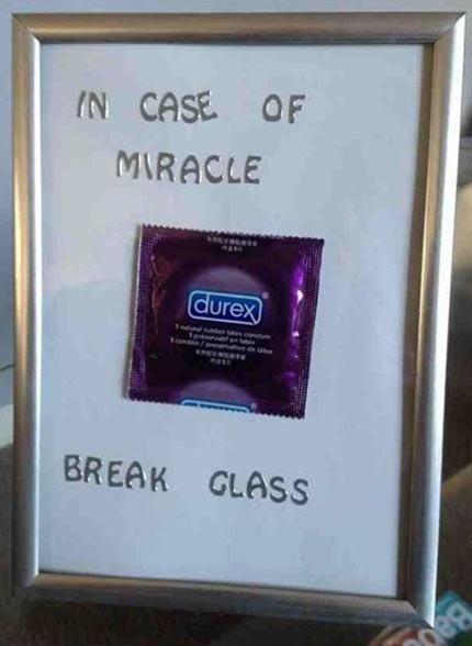 In Case of Miracle... Break Glass