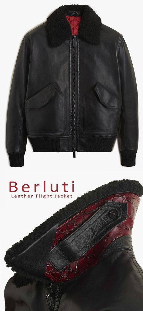 Berluti Leather Flight Jacket