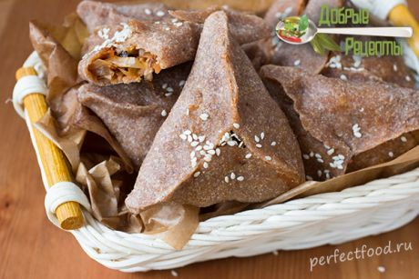 Треугольные пирожки с капустой - рецепт с фото и видео. Пирожки постные, веганские | Добрые рецепты