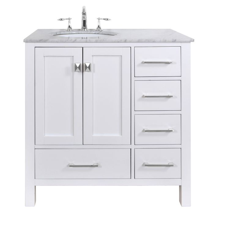 Photos On Malibu Pure White Single Sink inch Bathroom Vanity Overstock Shopping