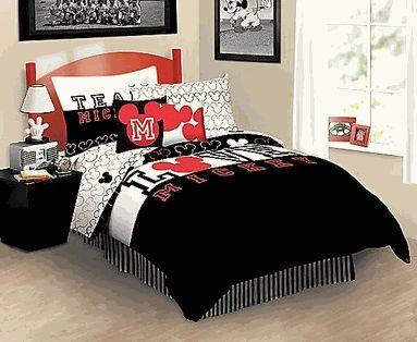 Disney Mickey Mouse Reversible Full Mini Comforter Set w/Shams