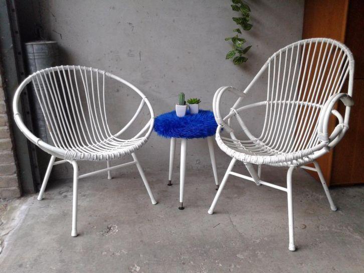Set rotan stoelen Rohe Noordwolde! Vintage retro jaren 50 60   Stoelen   Marktplaats nl