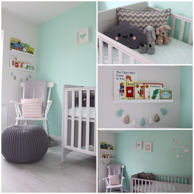 Our baby 39 s room a mint green and grey nursery baby - Kinderzimmer mint ...